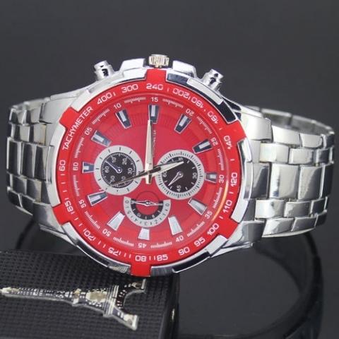 6979fc5c8f Predám nové elegantné pánske hodinky zn. Curren v kombinácii strieborný  remienok a červený ciferník. Ciferník priemeru 4