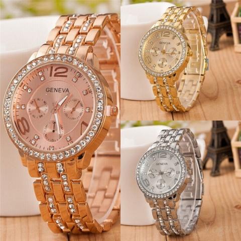 cf983a31905 Predám nové luxusné hodinky zn. Geneva vo farebnom prevedení  zlaté